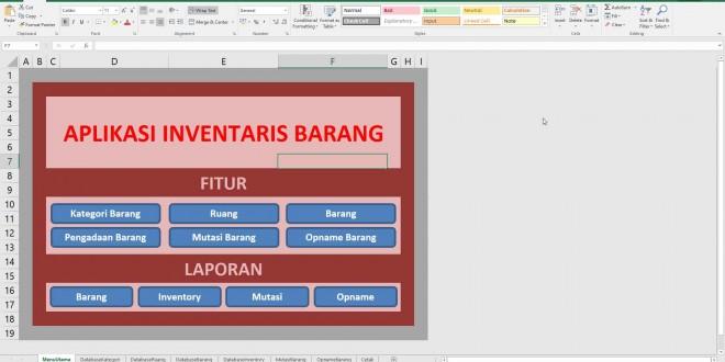 Kursus Macro Excel | Membuat Aplikasi Inventaris Barang