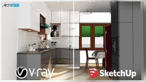 Kursus Sketchup |Vray Next + Sketchup 2019: Rendering Photorealistic Kitchenset