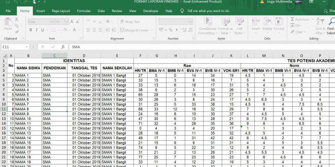 Hasil Karya Siswa | Kursus Excel Macro | Membuat Grafik Laporan Otomatis Berdasarkan Input Data